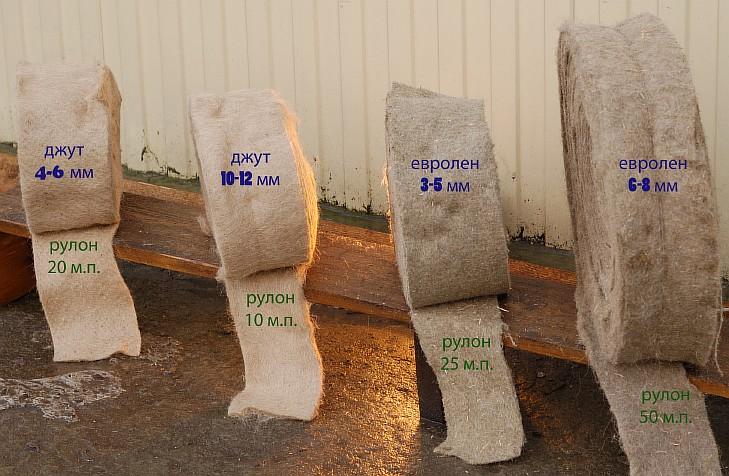 Виды материалов для конопатки дома