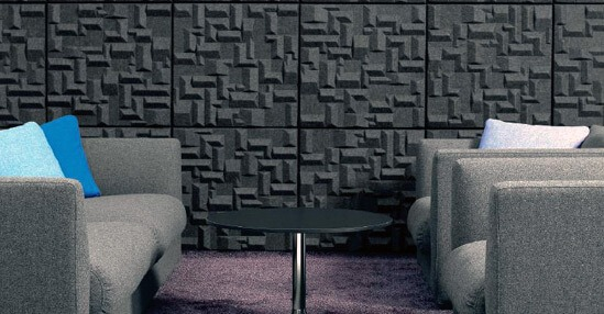 декоративные звукопоглощающие панели на стене