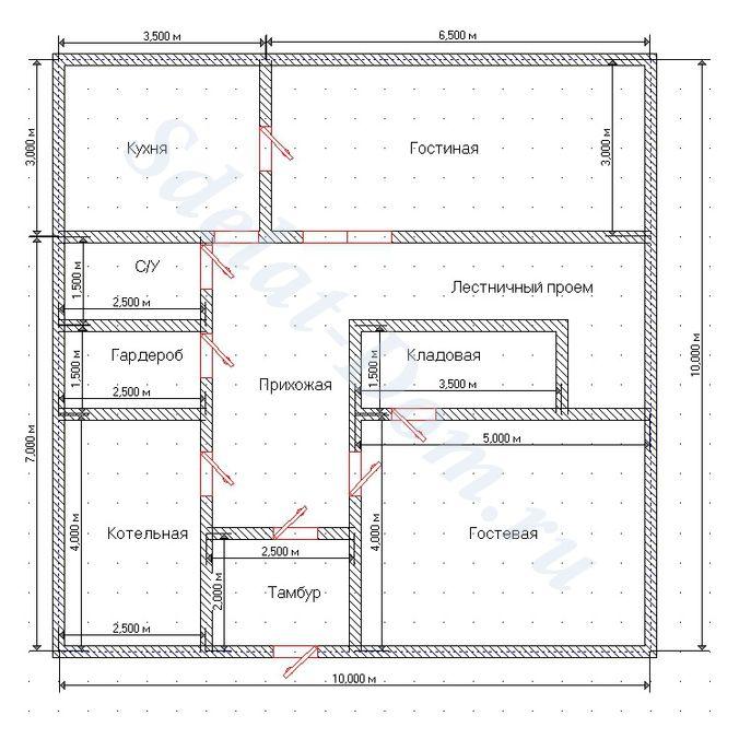 Проектируем двери на первом этаже