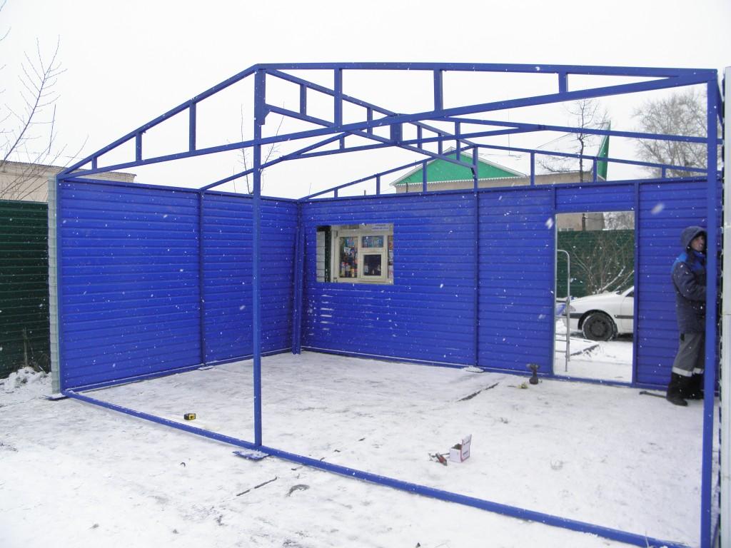 Каркас гаража из СИП-панелей