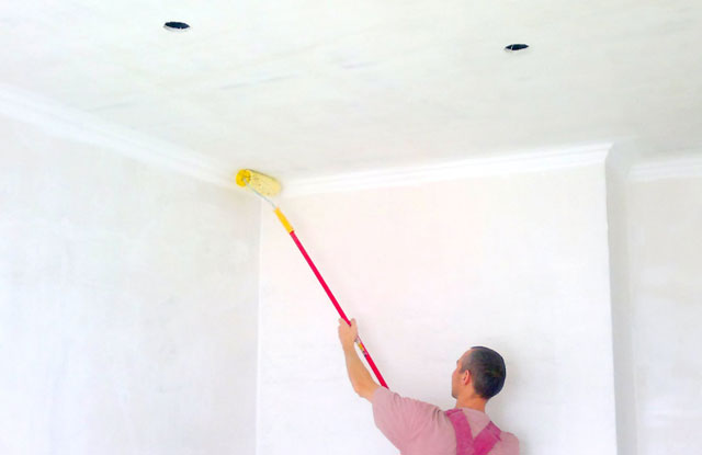как белить потолки