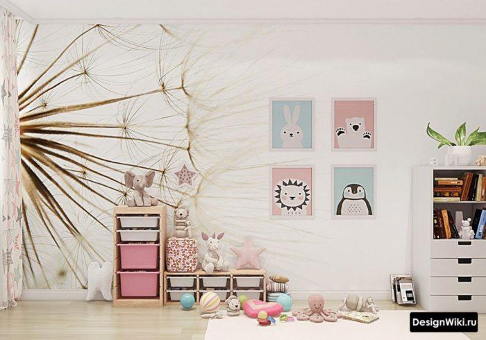Оформление комнаты для девочки картинками и наклейками