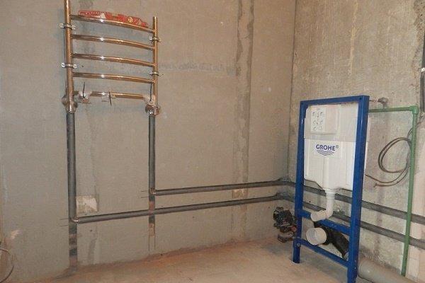 Перенос сантехнических приборов в санузле