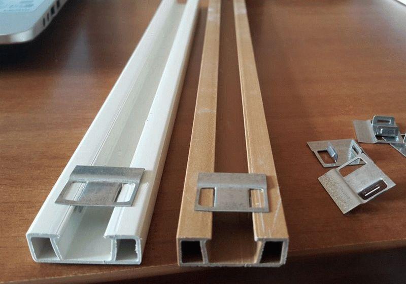 Пластиковые рейки для создания обрешетки под ПВХ панели