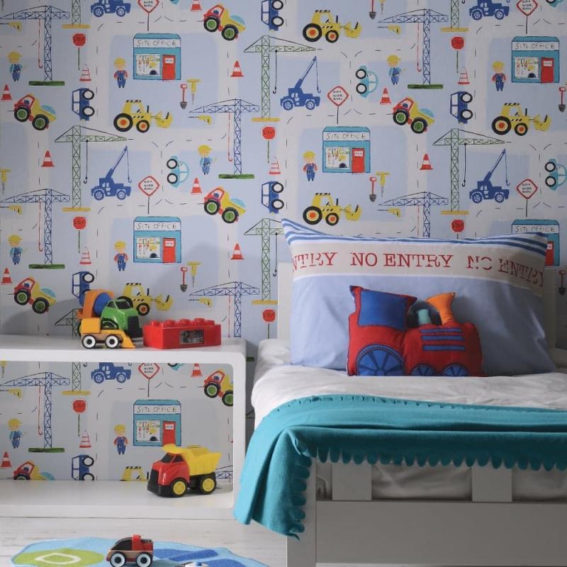 Обои в спальне для мальчиков 3