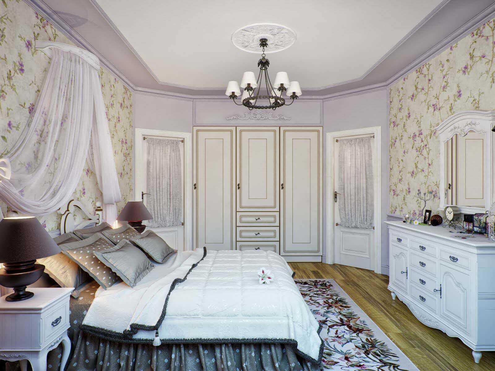 Стены, пол и потолок в стиле прованс