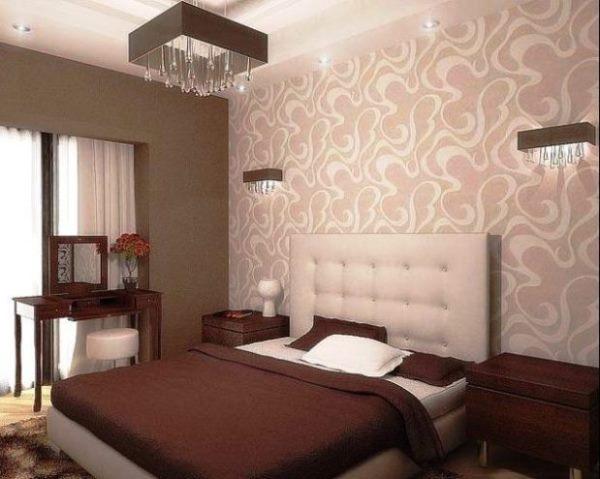 дизайн спальни с обоями двух цветов фото 39