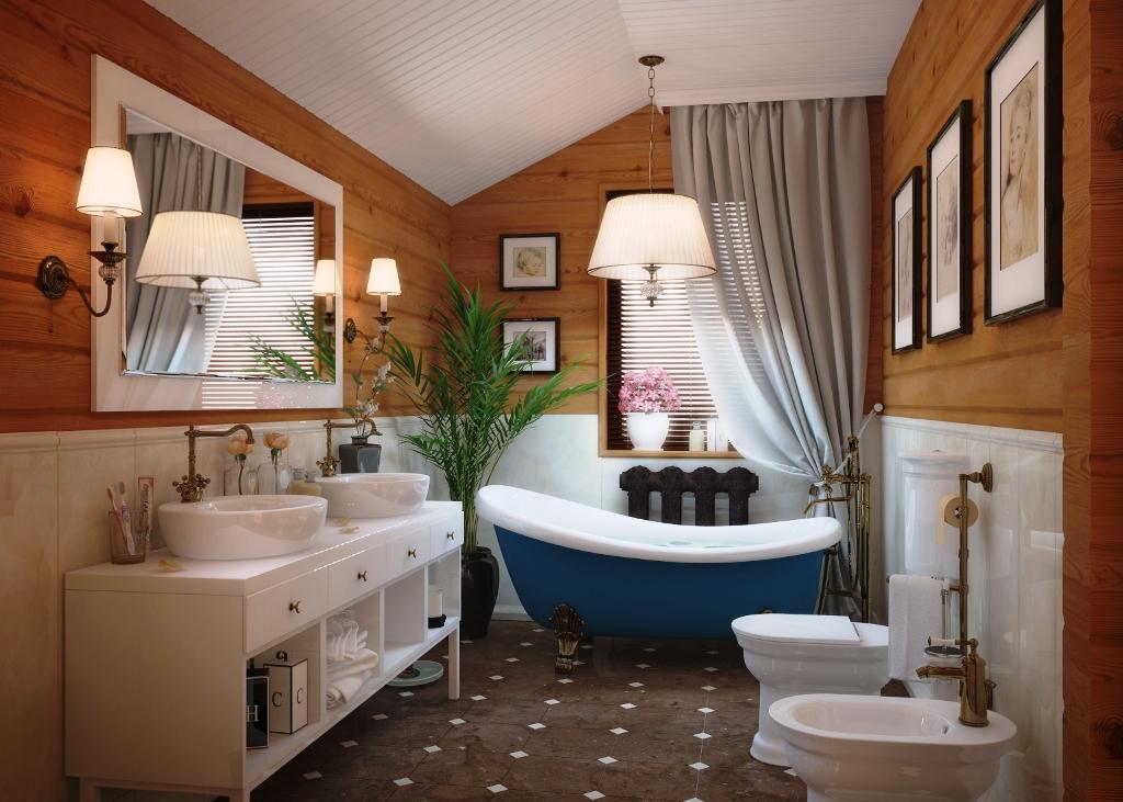 Дизайн совмещенного санузла частного дома