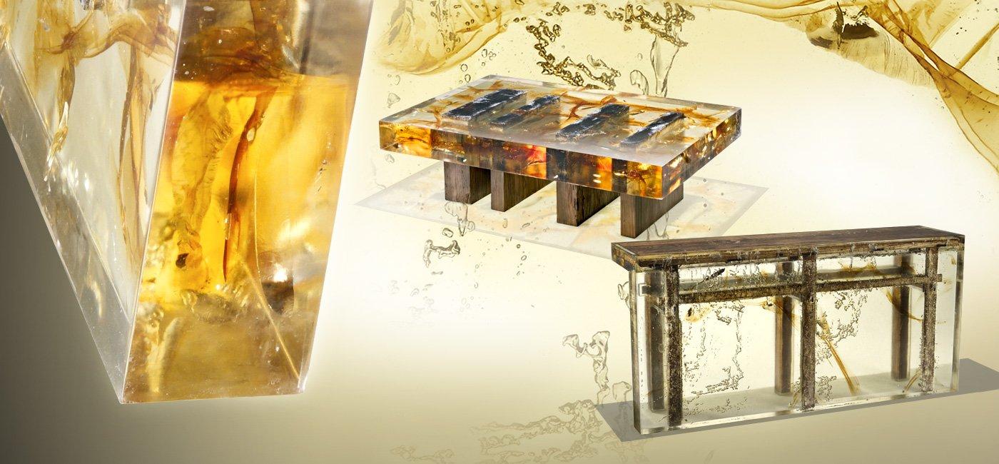 50 фото-идей дизайна стола из эпоксидной смолы