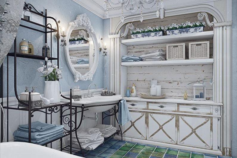 Ванная комната - Дизайн квартиры в стиле прованс