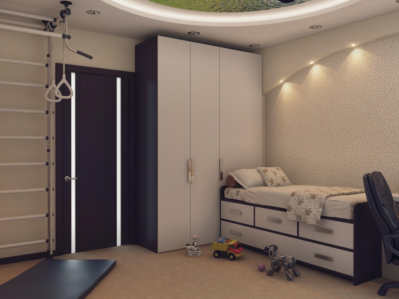 необычная детская спальня для ребенка фото