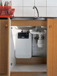 Как установить водонагреватель под раковиной