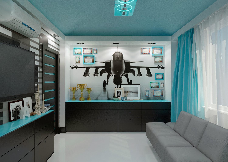 яркая детская спальня для мальчика дизайн