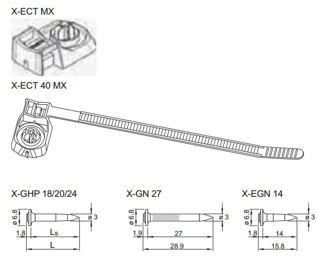 держатель электрокабеля с кабельной стяжкой в комплекте