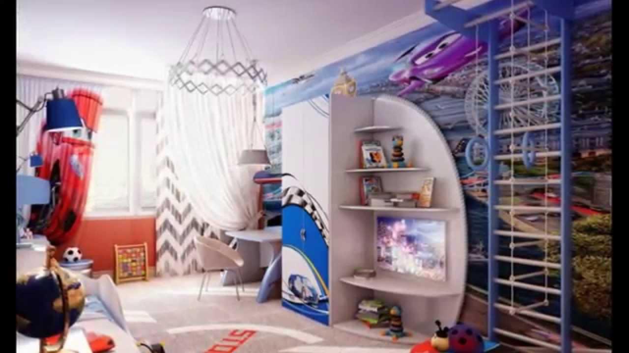 большая спальня для мальчика картинка