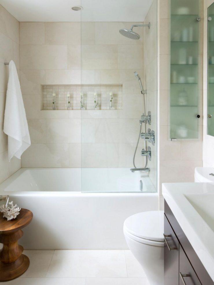 Маленькая ванная комната — 95 реальных фото-идей по дизайну