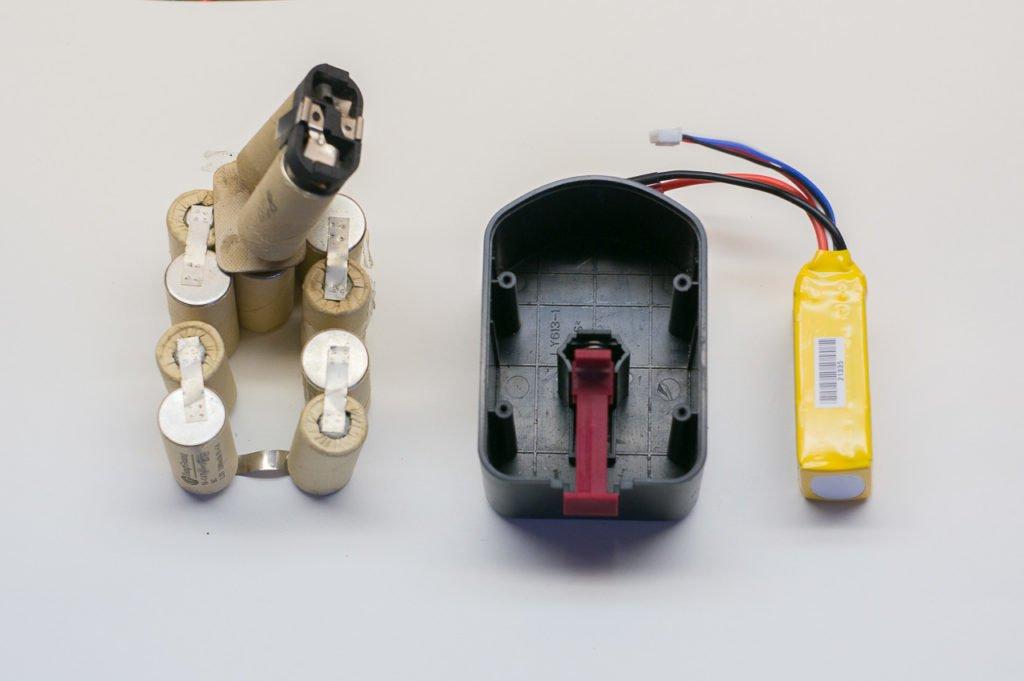 Разобранный аккумулятор