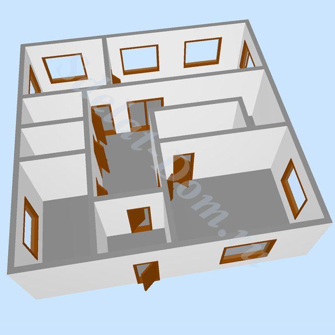 3D модель первого этажа