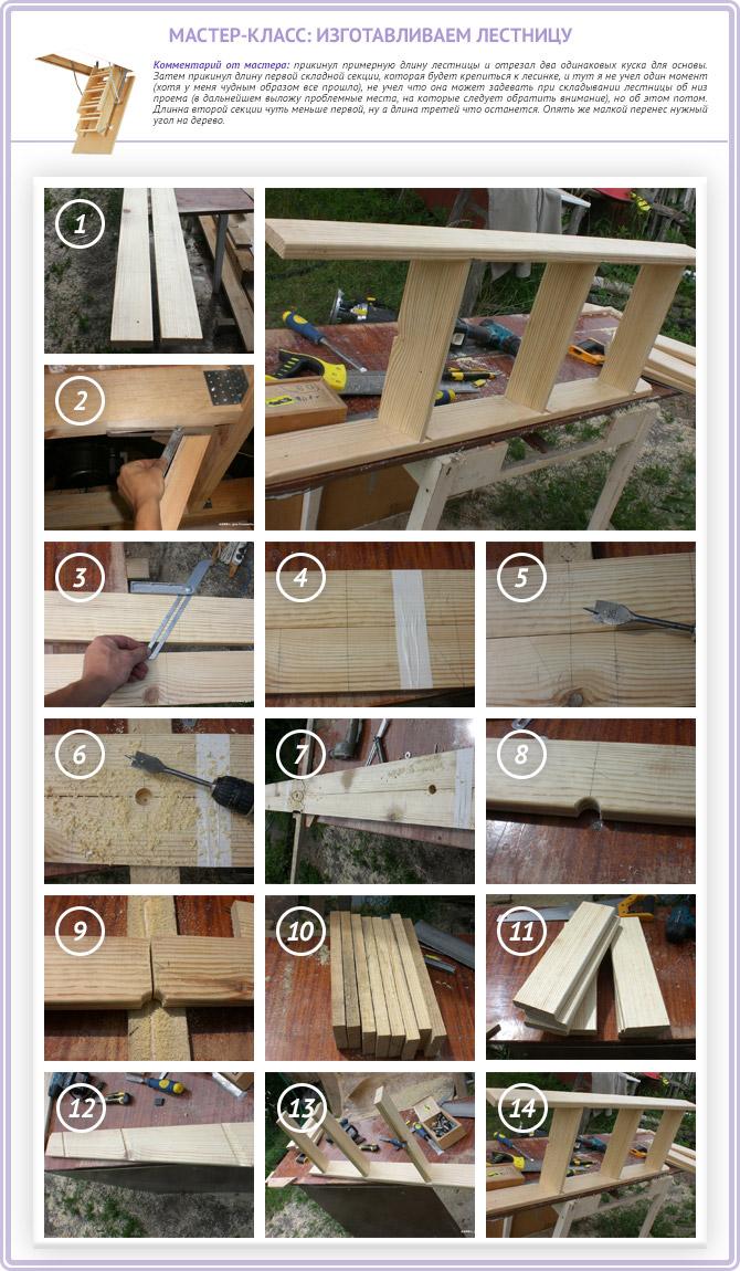 Изготавливаем чердачную лестницу своими руками