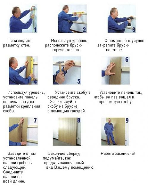 Инструкция по монтажу панелей ПВХ