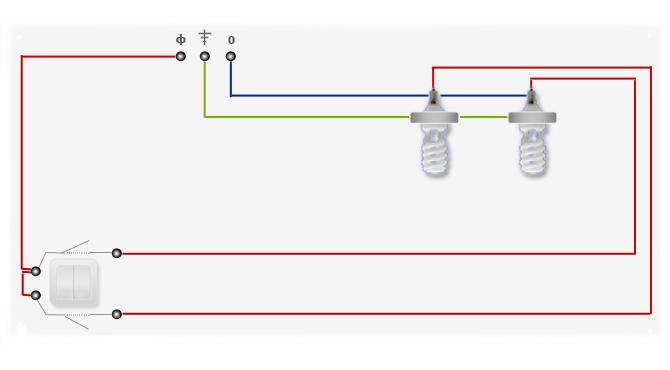 Изображение фазы на электрической схеме