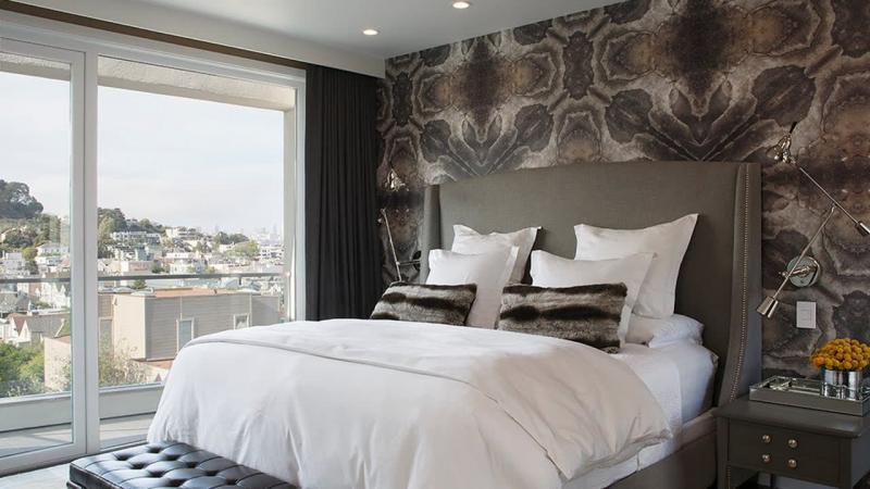 Обои для спальни в современном стиле 2
