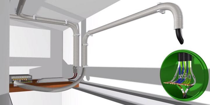 подключение питания в распредкоробке светодиодной ленты