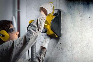 как штробить стены штроборезом?