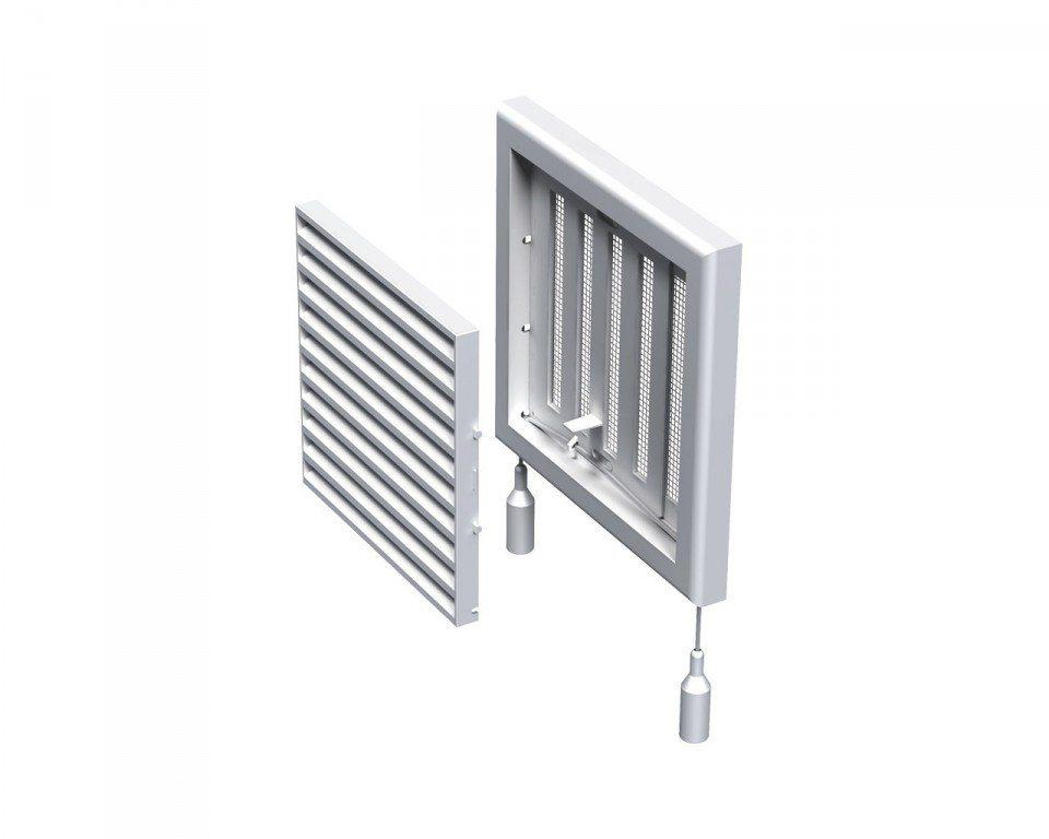 Вентиляционные решетки такого типа оснащены подвижными ламелями, которые работают как заслонки
