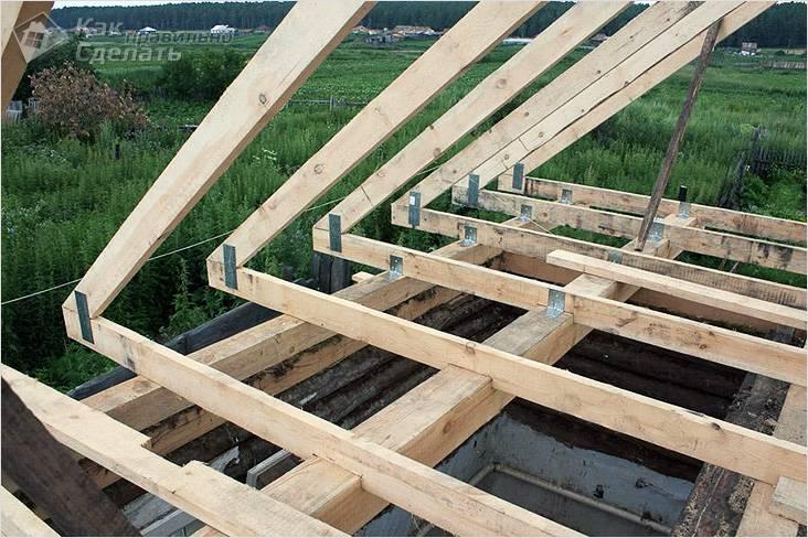 Строительство крыши