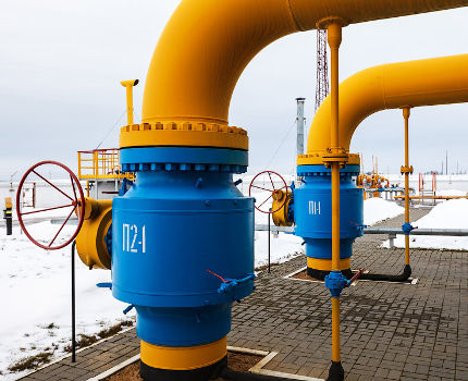 Задвижка на газопроводе