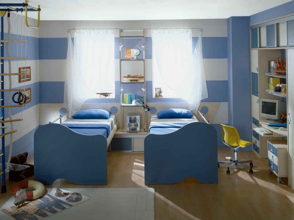 яркая детская комната для мальчика дизайн