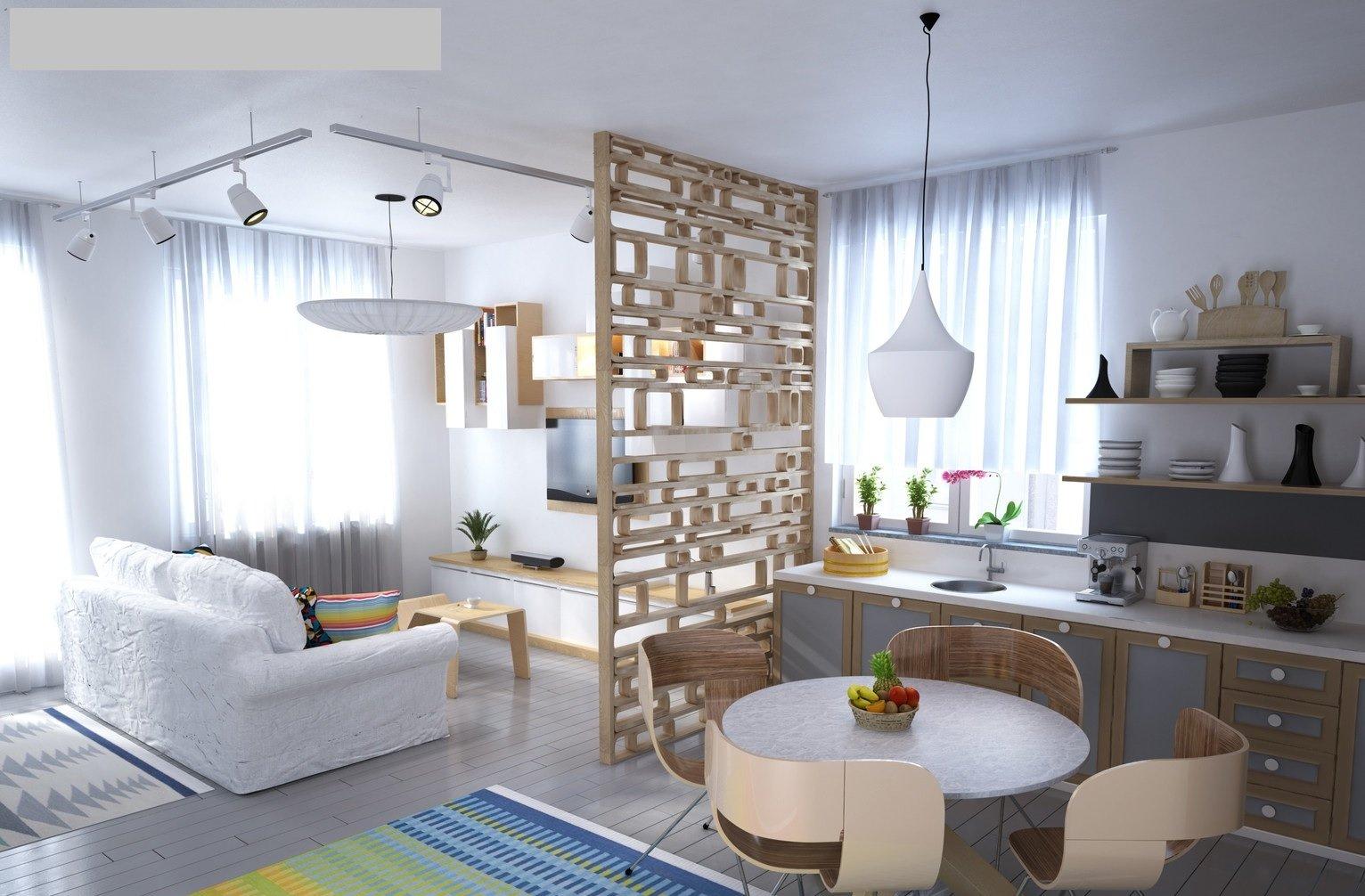 Белый диванчик в гостиной