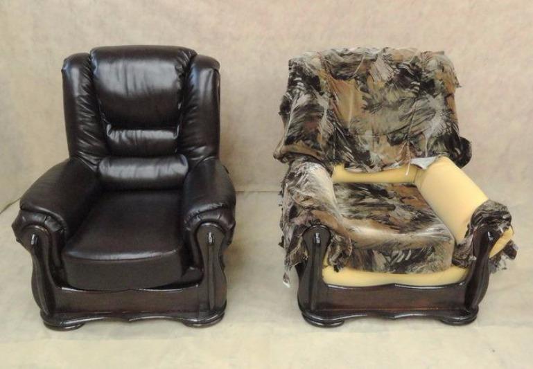 Любимое кресло после перетяжки