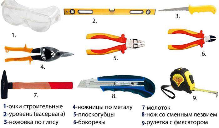 Инструменты и профили