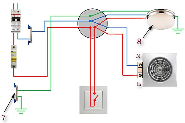 Как подключить вентилятор в ванной к выключателю — 3 ошибки и схемы подключения.