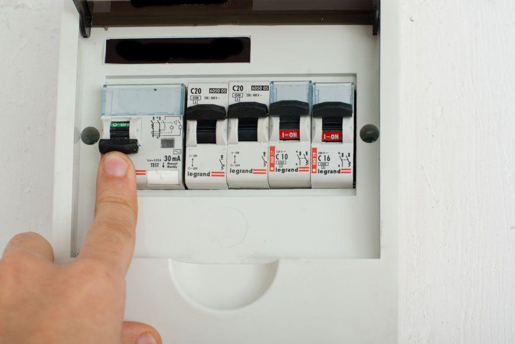 отключить электричество