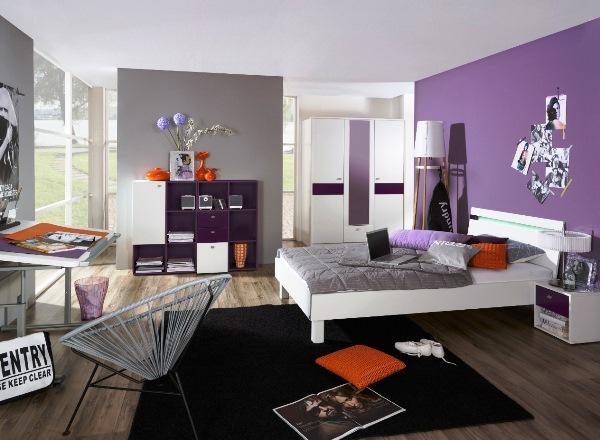 дизайн спальни с обоями двух цветов фото 26