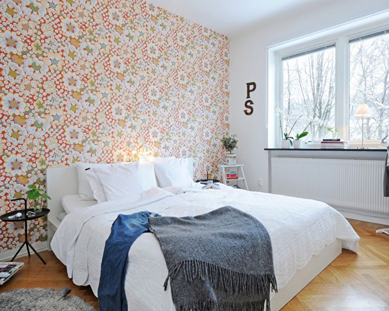 Обои для спальни в скандинавском стиле