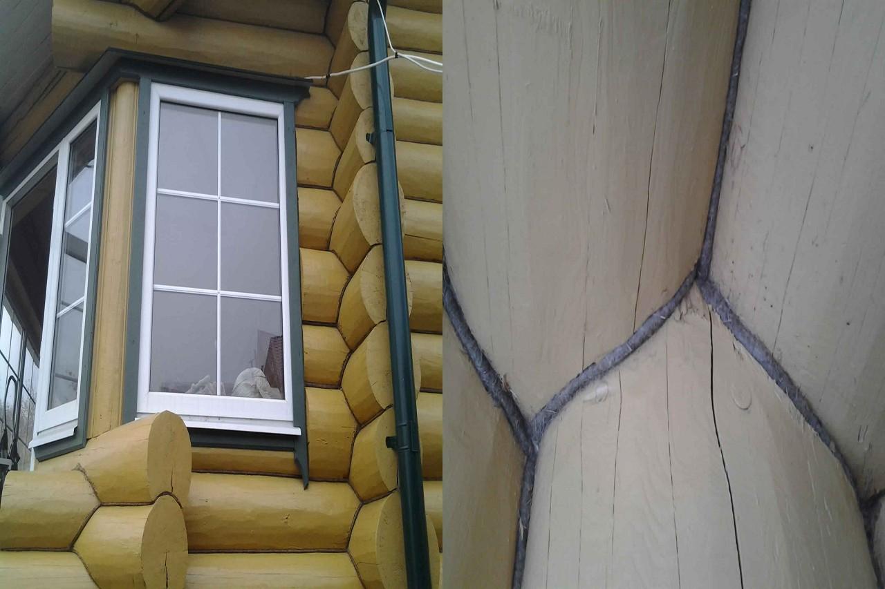 Конопатка сруба с использованием ленточного утеплителя