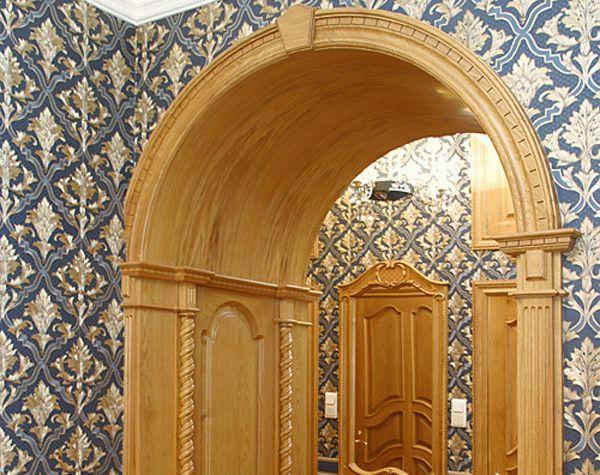 Цельная деревянная арка