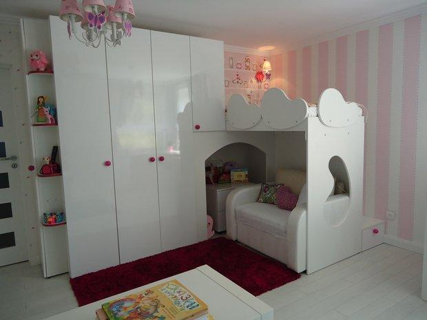 Модная двухъярусная кровать для девочек