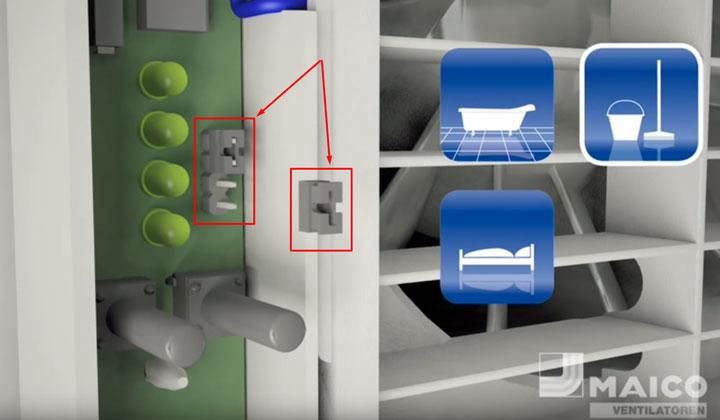 перемычка различных режимов работы вытяжного вентилятора