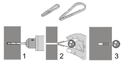 порядок работ при креплении провода дюбель стяжкой