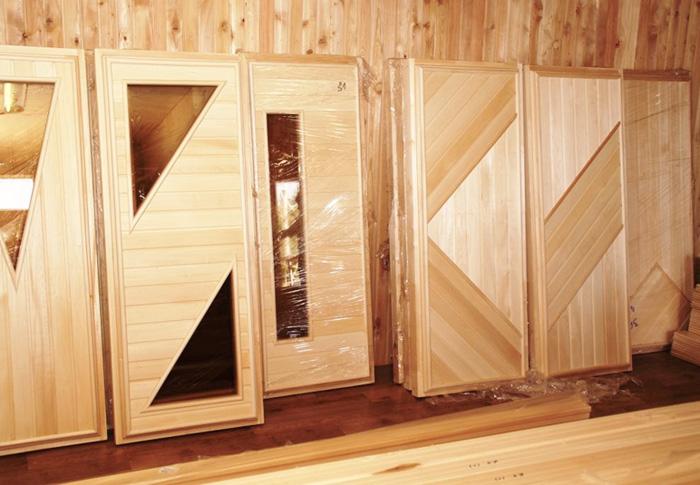 Конструкции дверей из натуральной древесины