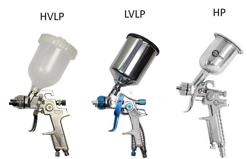 Типы краскопультов по технологии распыления