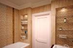 бежевые цвета в дизайне ванной