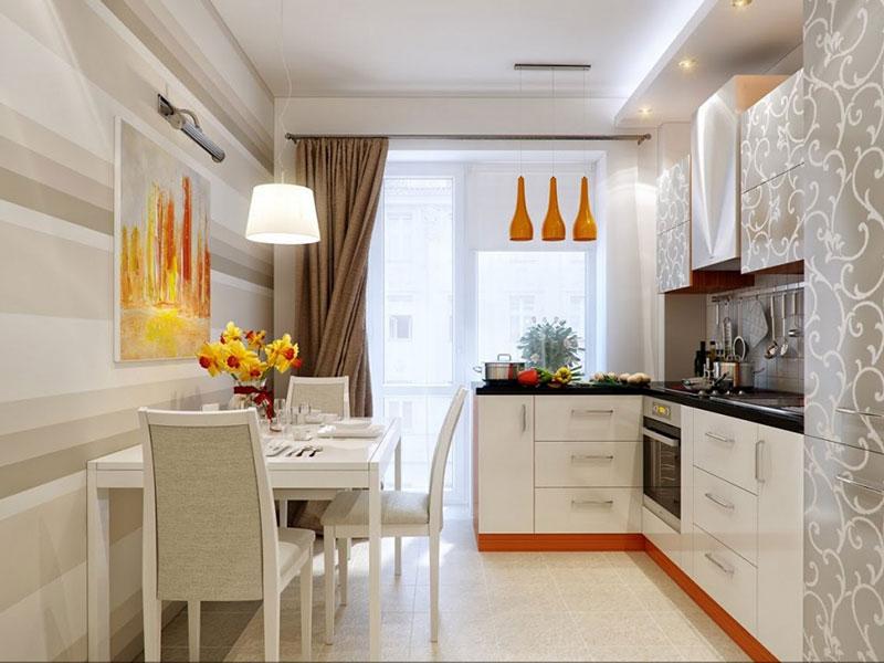 дизайн интерьера угловой кухни квартиры фото