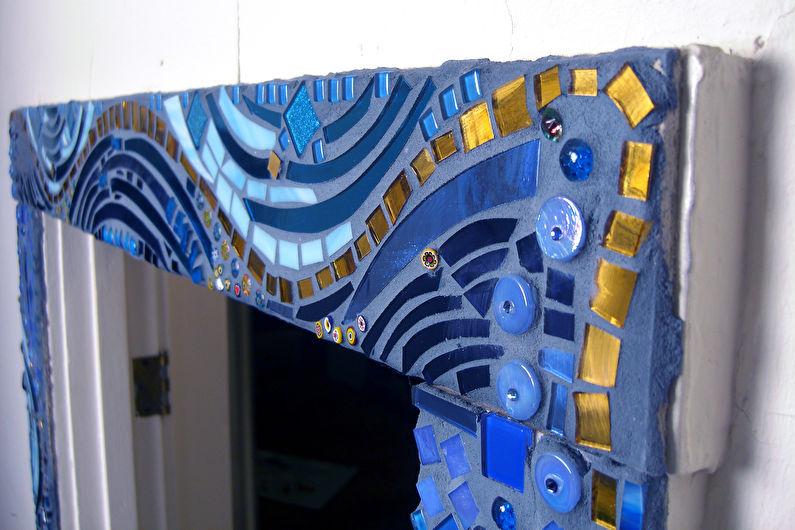 Декор старых дверей своими руками - Мозаика