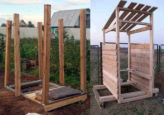 Этапы строительства туалетной кабинки на даче